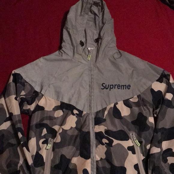 b40f757584490 Supreme Jackets & Coats   Reflective Camo Jacket   Poshmark